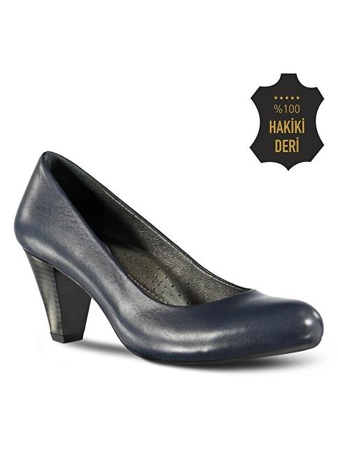 Marjin Topuklu Ayakkabı Lacivert
